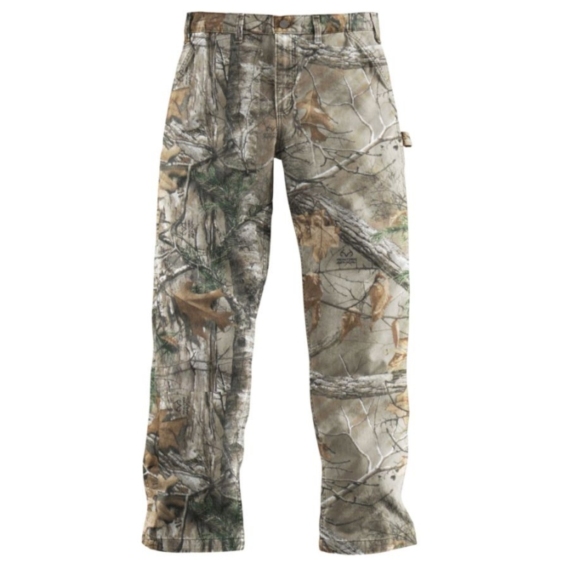 Carhartt Dungaree Straight Leg Camo Washed Duck Pant